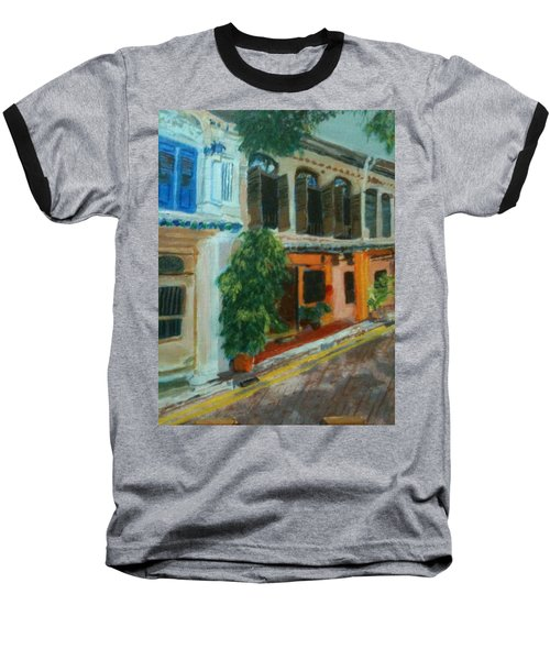 Baseball T-Shirt featuring the painting Peranakan House by Belinda Low