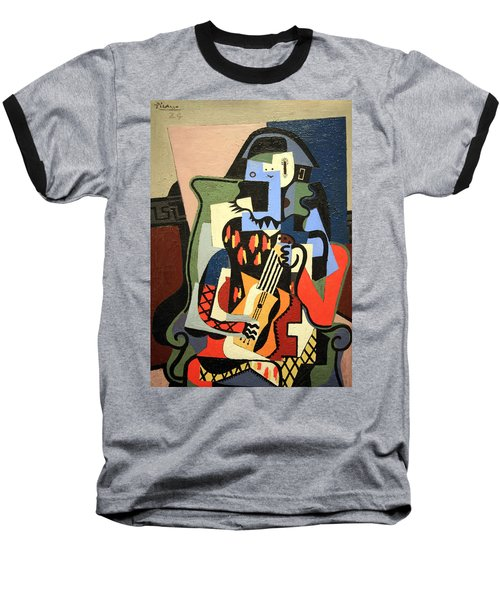 Picasso's Harlequin Musician Baseball T-Shirt by Cora Wandel