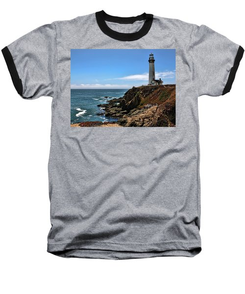 Pigeon Point Lighthouse Baseball T-Shirt by Judy Vincent