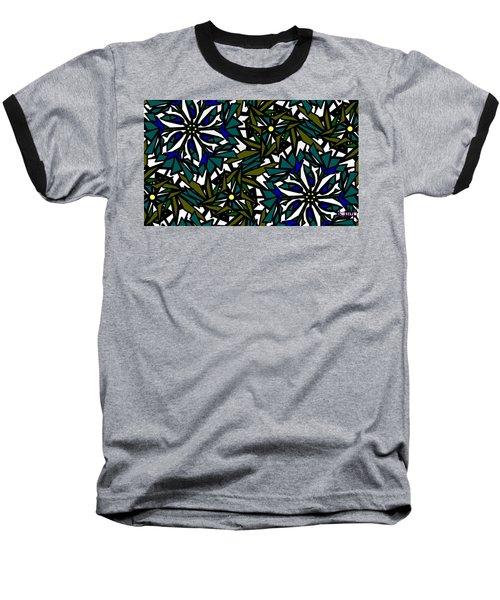 Pin-wheel Flowers Baseball T-Shirt by Elizabeth McTaggart