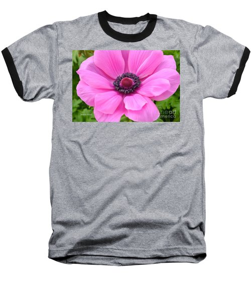 Baseball T-Shirt featuring the photograph Pink Flower by Jeannie Rhode