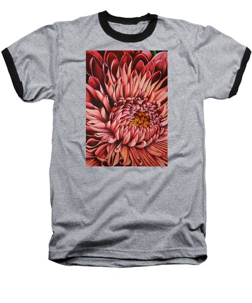 Pink Mum Baseball T-Shirt by Bruce Bley