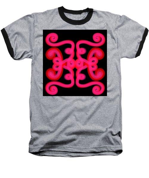 Baseball T-Shirt featuring the digital art Pink Scroll by Christine Fournier