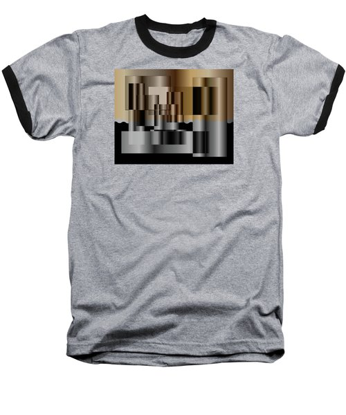 Baseball T-Shirt featuring the digital art Pipes by Iris Gelbart