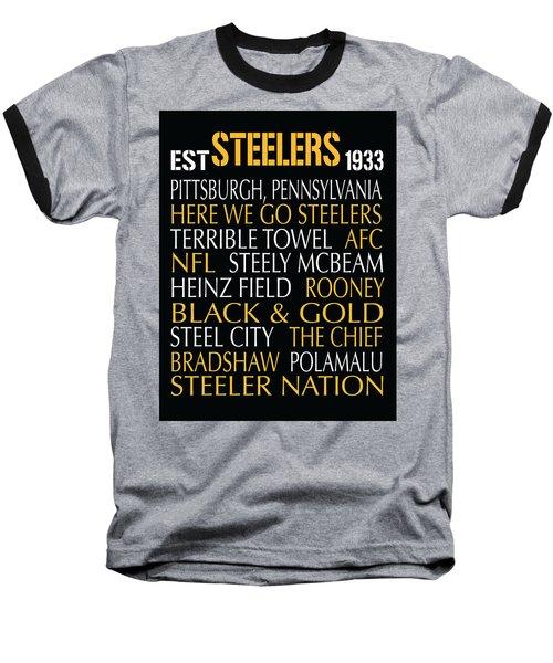 Pittsburgh Steelers Baseball T-Shirt