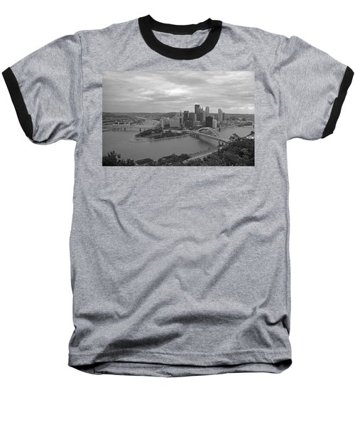 Pittsburgh - View Of The Three Rivers Baseball T-Shirt by Frank Romeo