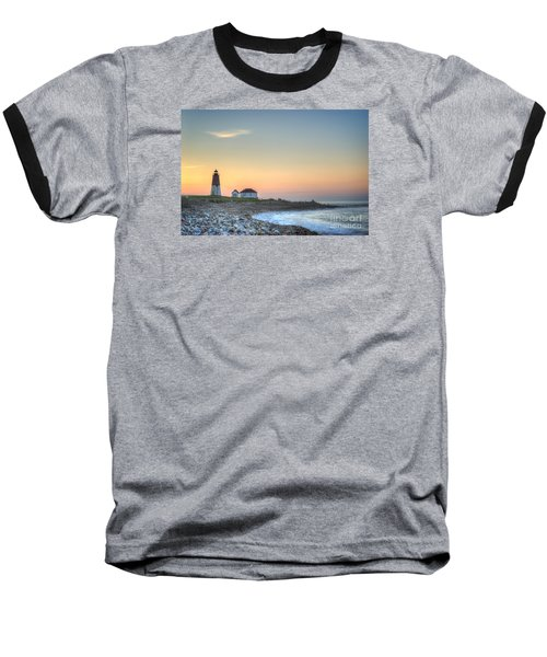 Point Judith Lighthouse Baseball T-Shirt by Juli Scalzi