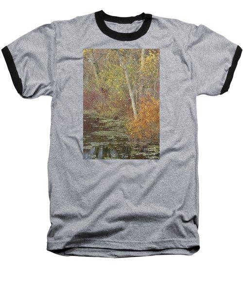 Pondside Pastel Baseball T-Shirt by Ann Horn