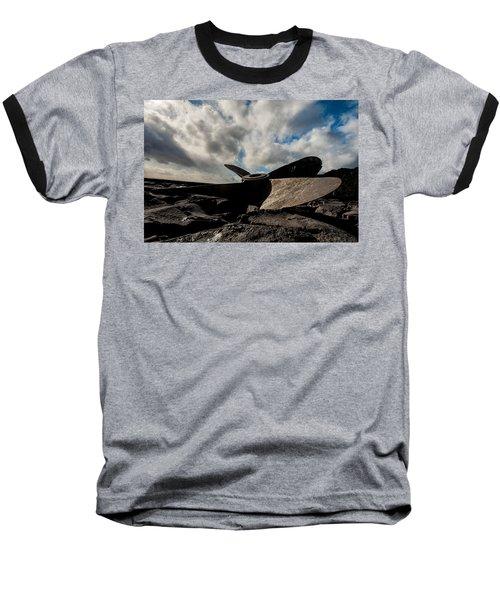 Propeller On The Beach Baseball T-Shirt