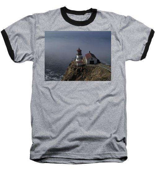 Pt Reyes Lighthouse Baseball T-Shirt by Bill Gallagher
