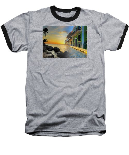 Puerto Rico Collage 4 Baseball T-Shirt by Stephen Anderson