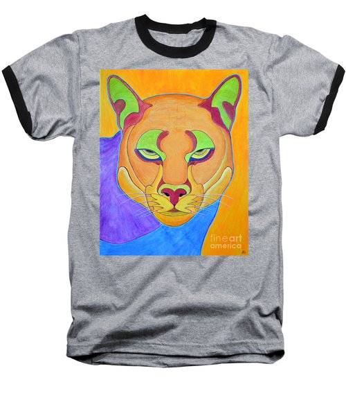 Baseball T-Shirt featuring the painting Puma 1 by Joseph J Stevens