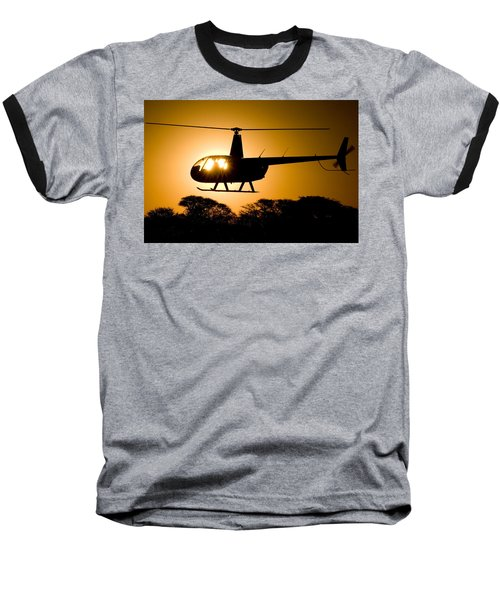 R44 Sunset Baseball T-Shirt by Paul Job