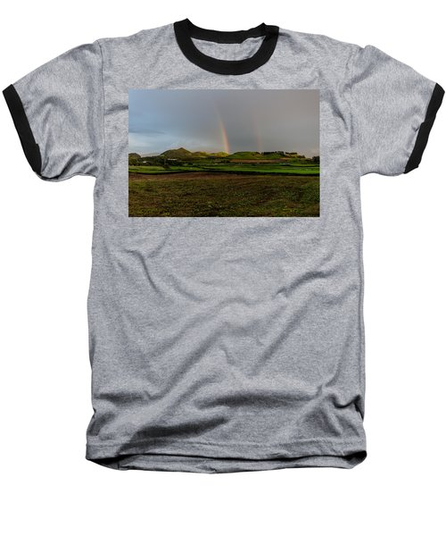 Rainbows Over The Mountain Baseball T-Shirt