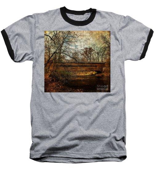 Rapps Dam Covered Bridge Baseball T-Shirt
