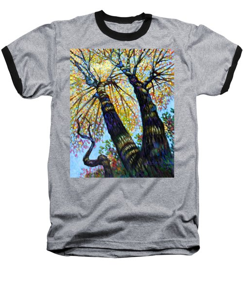 Reaching For The Light Baseball T-Shirt by John Lautermilch