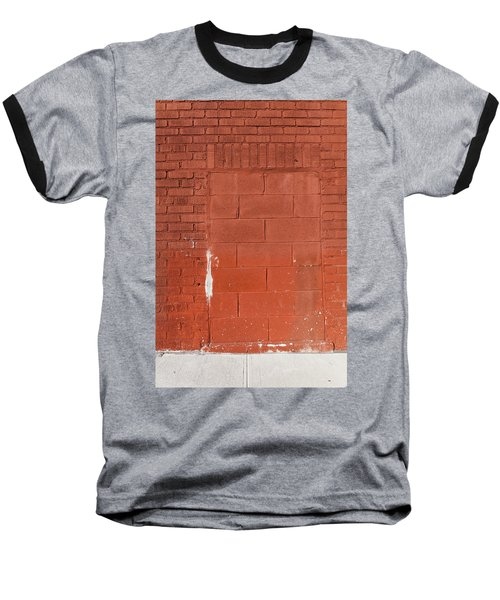Red Wall With Immured Door Baseball T-Shirt