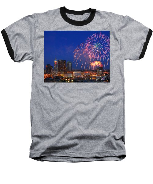 Red White And Boom Photo Baseball T-Shirt