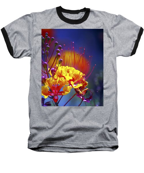 Red Yellow Blossoms 10197 Baseball T-Shirt