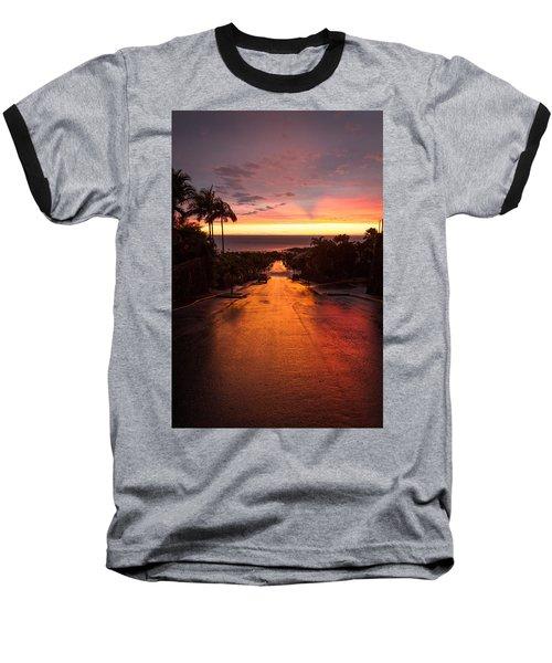 Sunset After Rain Baseball T-Shirt