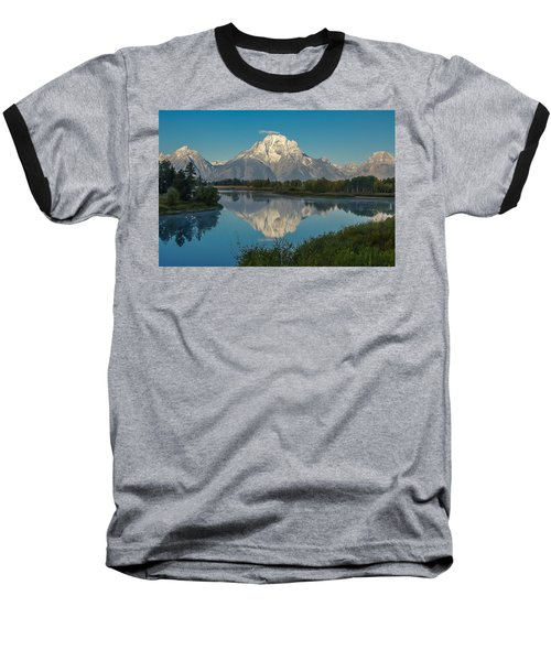 Reflections Of Mount Moran Baseball T-Shirt