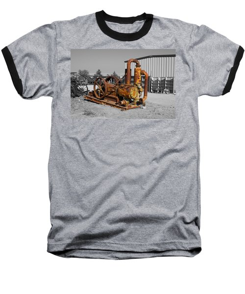 Retired Petroleum Pump Baseball T-Shirt by Richard J Cassato