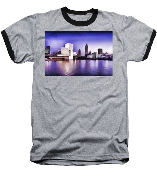 Rock And Roll Hall Of Fame - Cleveland Ohio - 3 Baseball T-Shirt