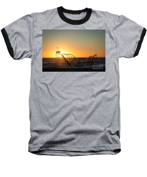 Roller Coaster Sunrise Baseball T-Shirt