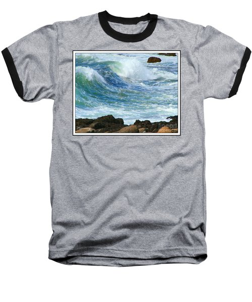 Baseball T-Shirt featuring the photograph Rough Seas by Mariarosa Rockefeller