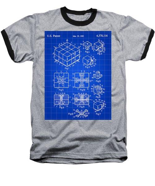 Rubik's Cube Patent 1983 - Blue Baseball T-Shirt