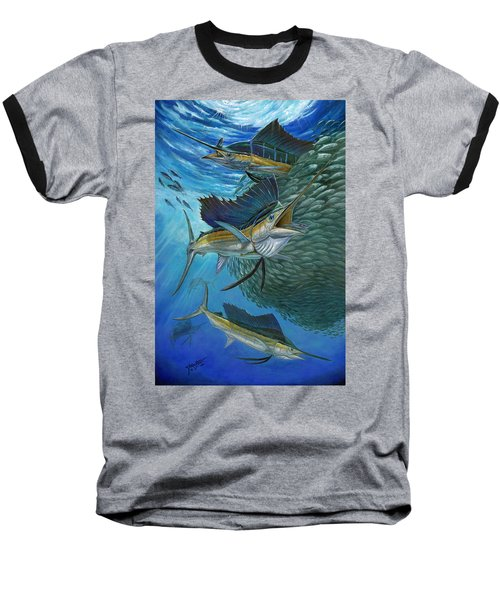 Sailfish With A Ball Of Bait Baseball T-Shirt