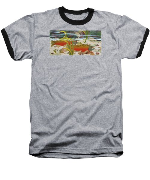 Salmon Baseball T-Shirt by Katherine Young-Beck