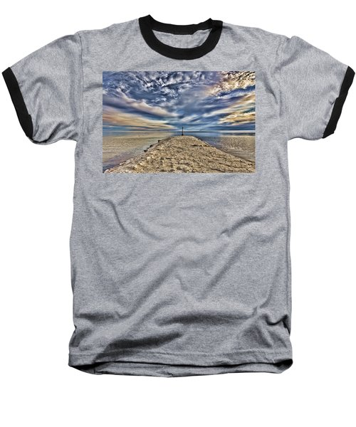 Salt Pier Salton Sea Baseball T-Shirt by Hugh Smith