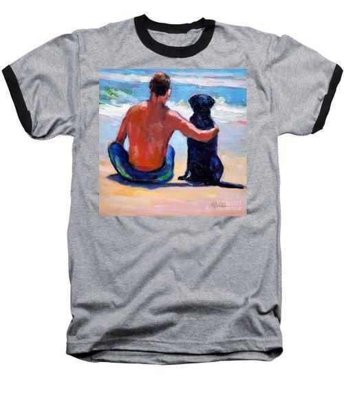 Sand Sea You Me Baseball T-Shirt by Molly Poole