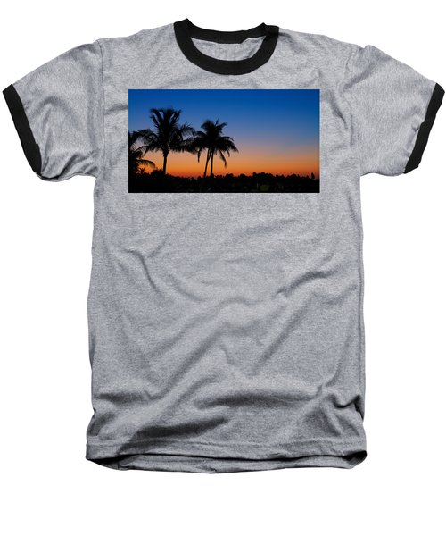 Sanibel Island Florida Sunset Baseball T-Shirt