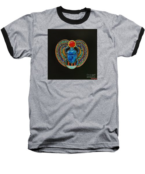 Baseball T-Shirt featuring the painting Scarab by Joseph Sonday