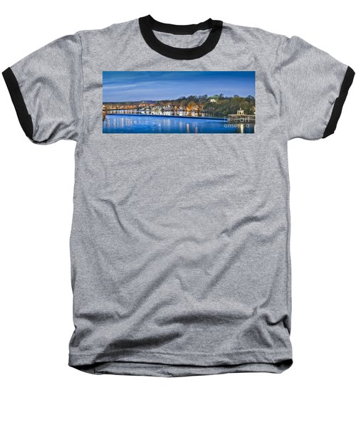 Schuylkill River  Boathouse Row Lit At Night  Baseball T-Shirt