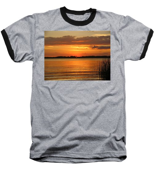 Setting Sun In Mount Dora Baseball T-Shirt
