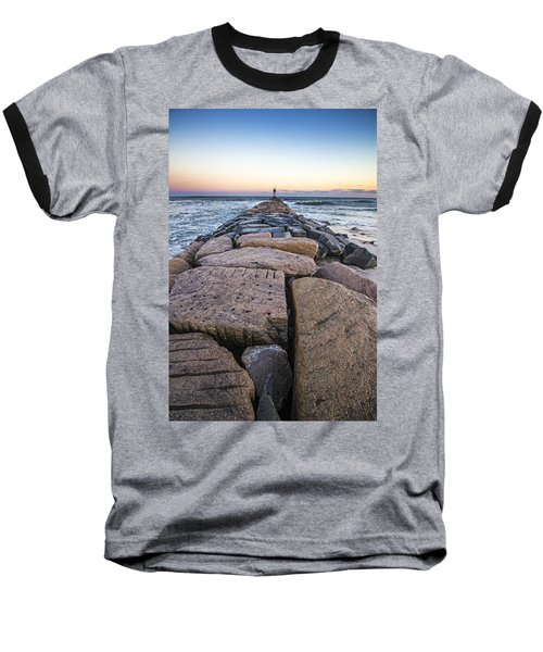Shinnecock Inlet Jetty Baseball T-Shirt
