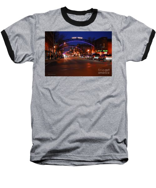 D8l353 Short North Arts District In Columbus Ohio Photo Baseball T-Shirt