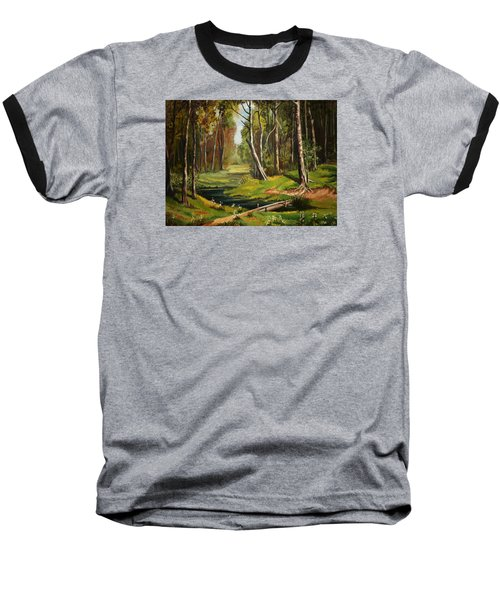 Silence Of The Forest Baseball T-Shirt by Kate Black