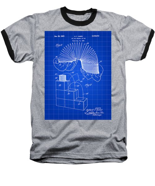 Slinky Patent 1946 - Blue Baseball T-Shirt