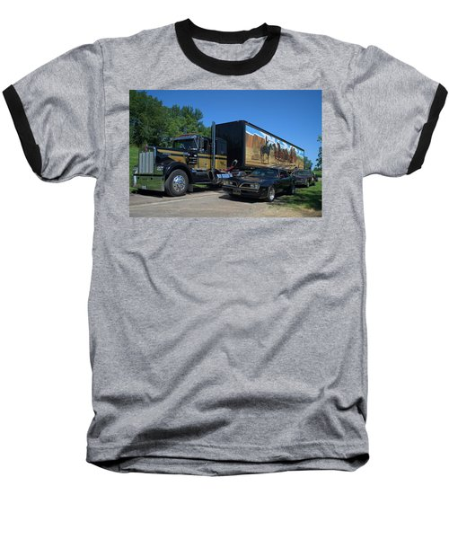 Smokey And The Bandit Tribute 1973 Kenworth Semi Truck And The Bandit Baseball T-Shirt