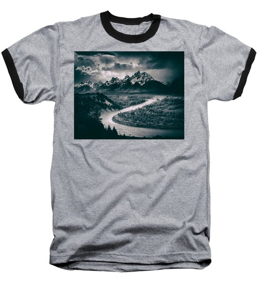 Snake River In The Tetons - 1930s Baseball T-Shirt