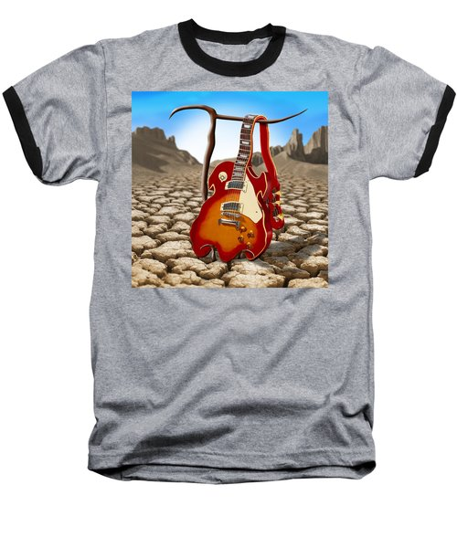 Soft Guitar II Baseball T-Shirt by Mike McGlothlen