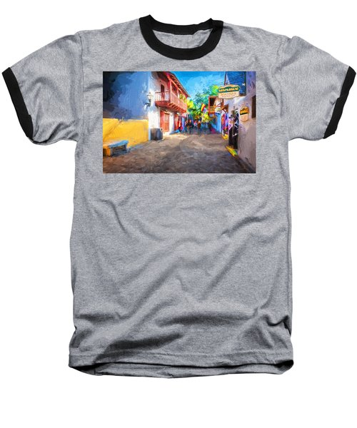 St George Street St Augustine Florida Painted Baseball T-Shirt