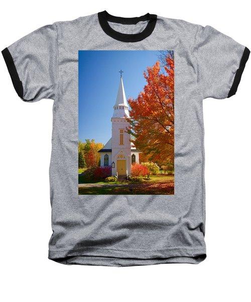St Matthew's In Autumn Splendor Baseball T-Shirt by Jeff Folger
