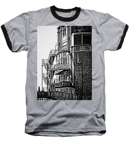 Stairs Baseball T-Shirt by Mark Alder