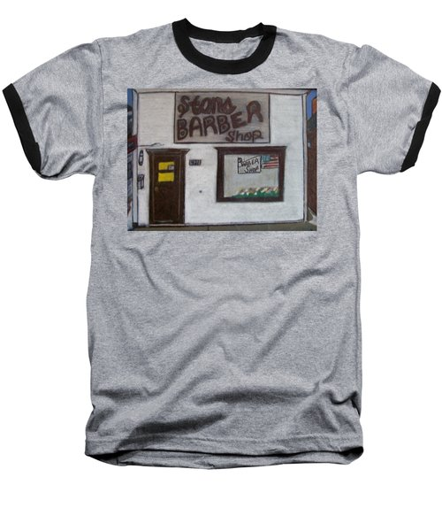 Stans Barber Shop Menominee Baseball T-Shirt by Jonathon Hansen