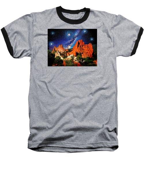 Starry Night At Garden Of The Gods Baseball T-Shirt